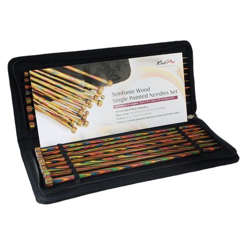 "30cm Single Point Knitting Needles 12/"" pair KnitPro Symfonie Wood Straight"