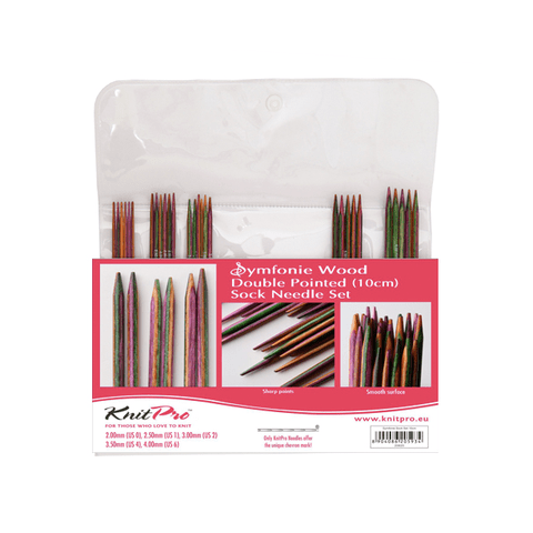 Knitpro Symfonie Wood Double Pointed Needle Set//DPN Set 10 cm length