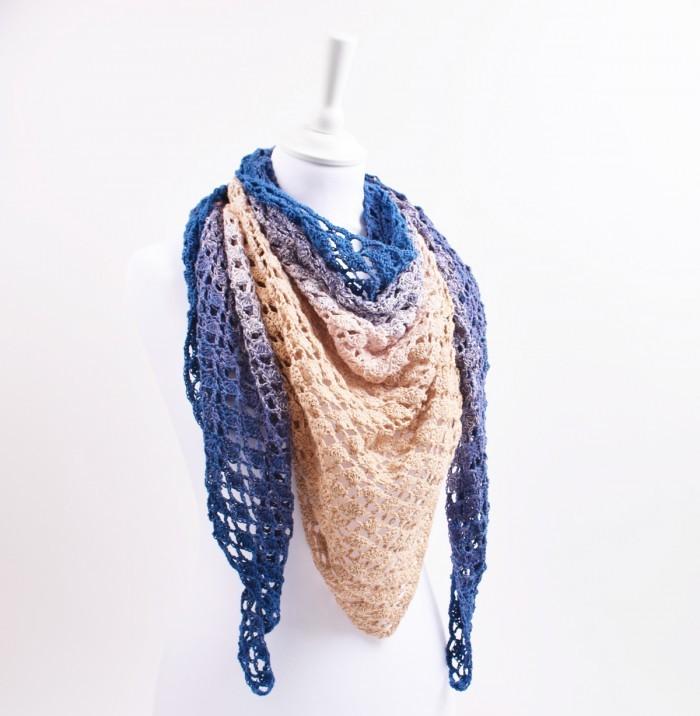 hæklet sjal gratis opskrift