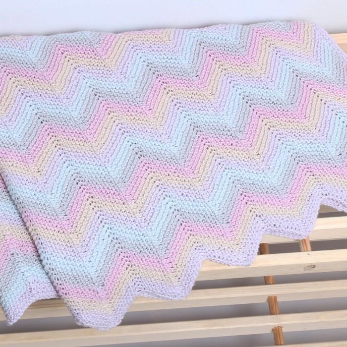 hæklet babytæppe zigzag