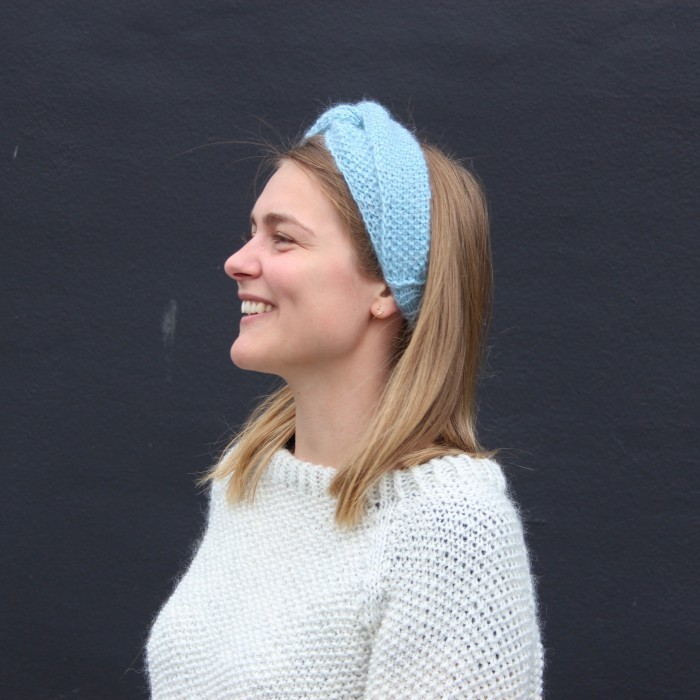 strikket hårbånd