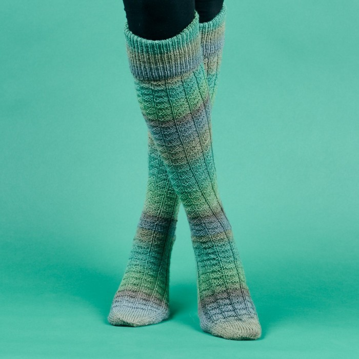 wool knit Ladies socks  Knee-high Knitted socks for women  womens socks Long