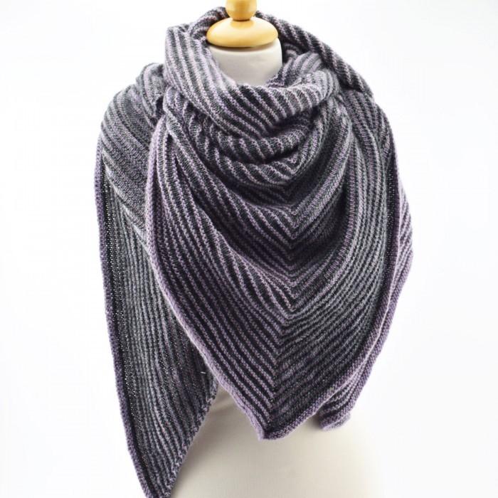 stickad sjal mönster gratis