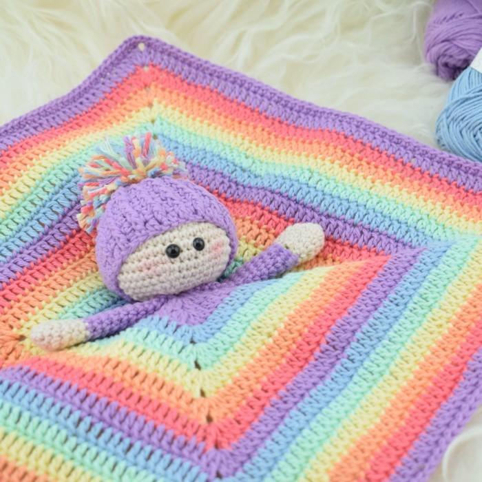 Rainbow Alberte Schmusetuch Anleitungen Hobbii Hobbiide