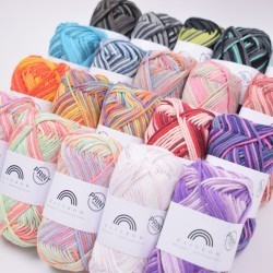 Rainbow Cotton 8/8 Print Yarn Hobbii