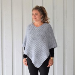 Autumn Waves Poncho Patronen