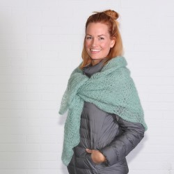 Pauwensjaal in Kid Silk Patronen