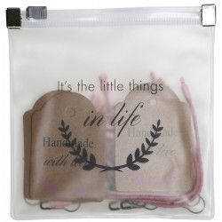 Label-set ''It's the little things in life'' Toebehoren Go Handmade