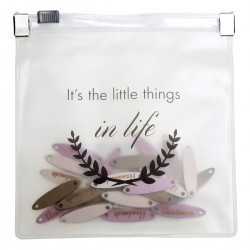 Houten labels ''It's the little things in life'' Toebehoren Go Handmade