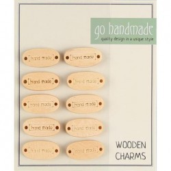 Handmade Label In Wood - 10 pcs - 17261 Accessories Go Handmade