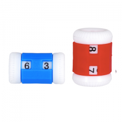 Row Counter - 2 pcs. - Blue & Red Accessories KnitPro