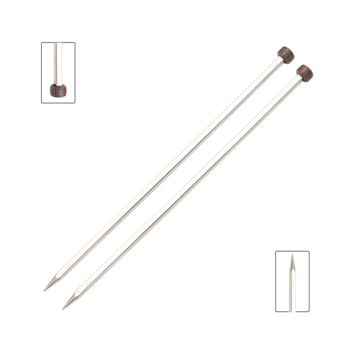 Single point knitting needles KNITPRO NOVA Metal Straight 30cm Length