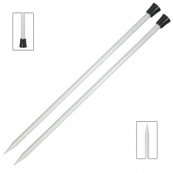 Basix Aluminium Straight/ Single point Needles Knitting Needles KnitPro