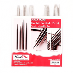 "Nova Metal DPN Set - 15 cm/ 6""  2-4mm/ US 0-6 Knitting Needles KnitPro"
