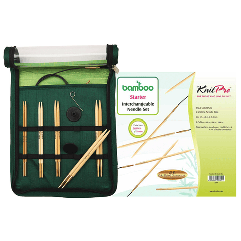 Bamboo Interchangeable Circular Needles  - Beginner  Knitting Needles KnitPro