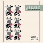 Wooden Buttons - Dotty the Cow - 6 pcs.  Accessories Go Handmade