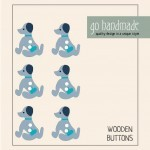 Wooden Buttons - The Dog Millie - 6 pcs. Accessories Go Handmade