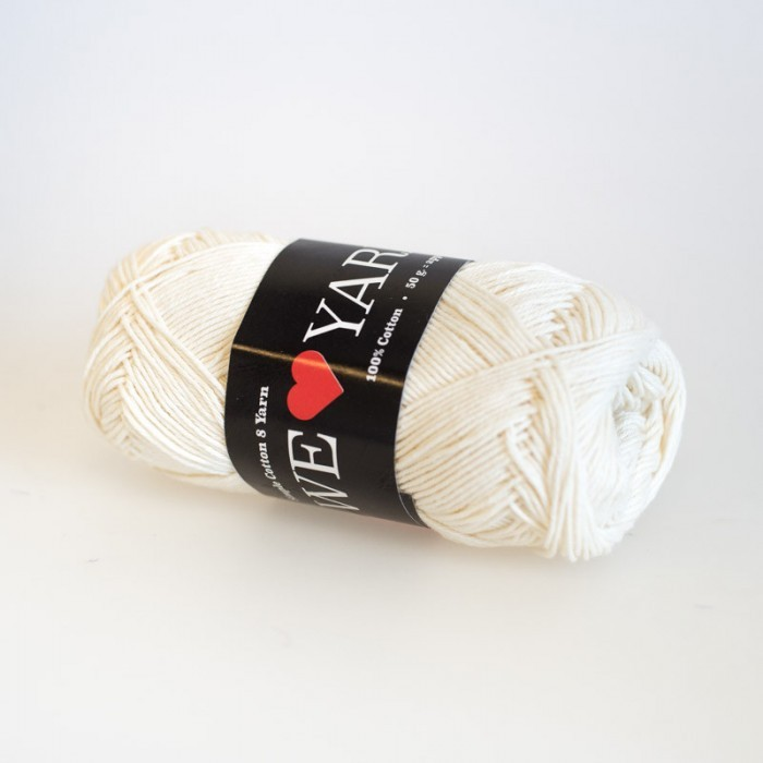 8/4 Bomullsgarn i påsar á 10 nystan Garn We Love Yarn