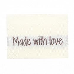 10 Labels - Made with love - 3 hearts - 3.5 cm  Accessories Go Handmade