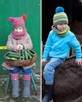 strikkeopskrifter huer til børn