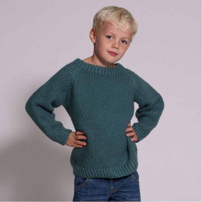 Alex Sweater in Seed Stitch Patterns