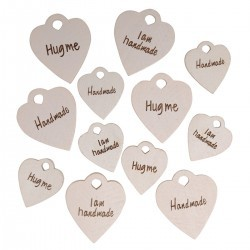 "Wooden charms set ""Good Stuff"", 12 pieces Accessories Go Handmade"