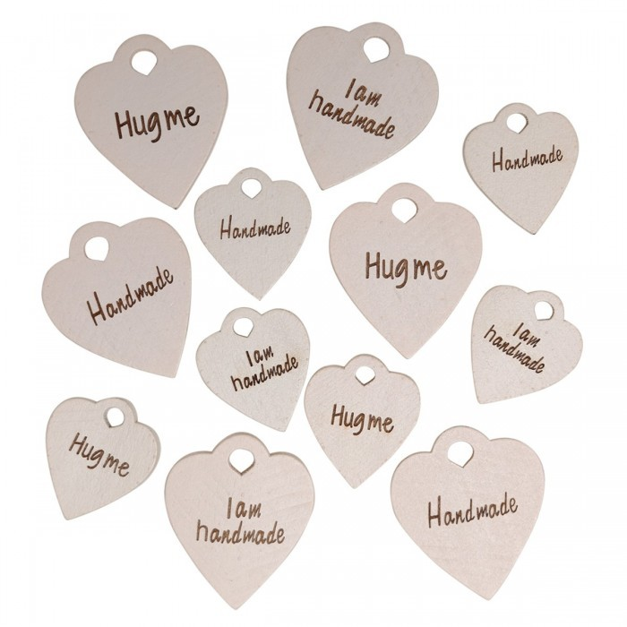 "Houten label set ""Good stuff'', 12-delig Toebehoren Go Handmade"