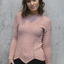 1471 - Sweater i vrangstrik Opskrifter Mayflower