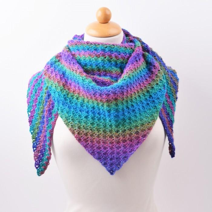 patroon tunisch gehaakte sjaal