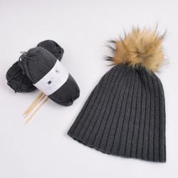 d72f07e4531 Rib-knit hat - Hobbii