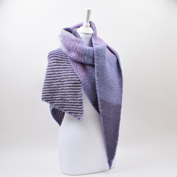 Asymmetric shawl with stripes  Patterns Hobbii