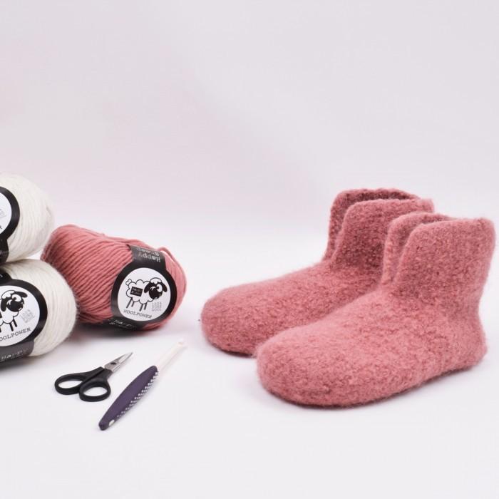 Gefilzte Hausschuhe Gehäkelt Anleitungen Happy Sheep Hobbiide