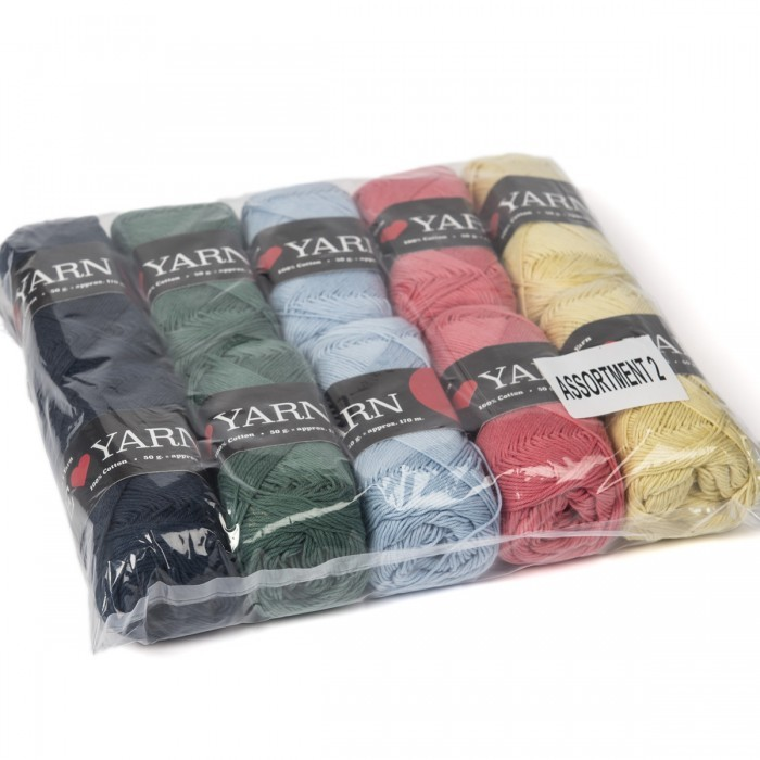 8/4 Baumwolle Mixpaket - 10 Knäuel Garn & Wolle We Love Yarn