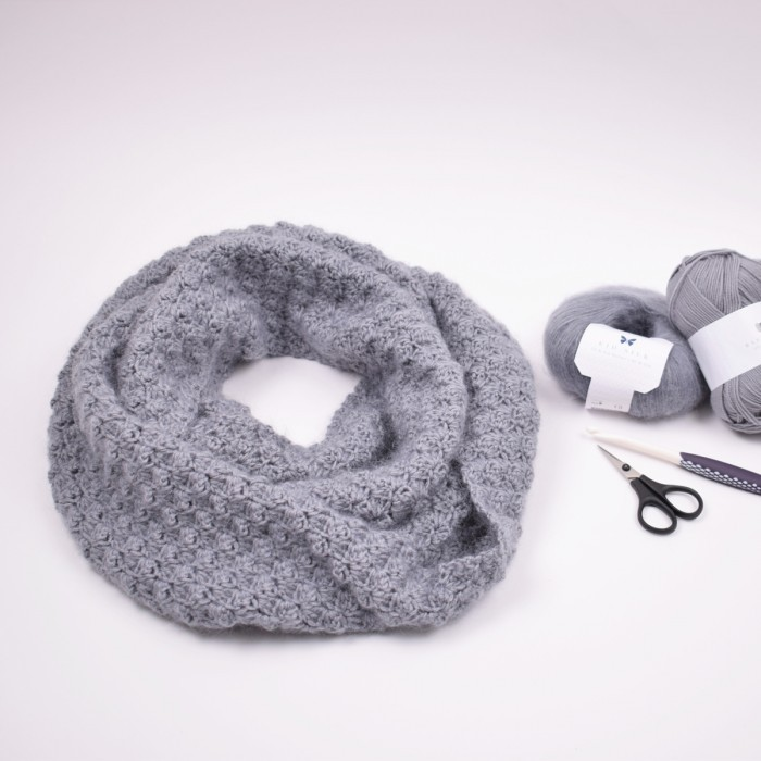 Merino Infinity Scarf   Patterns Hobbii