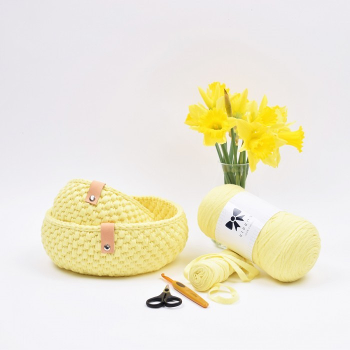Ribbon Easter Bread Basket Patterns Hobbii