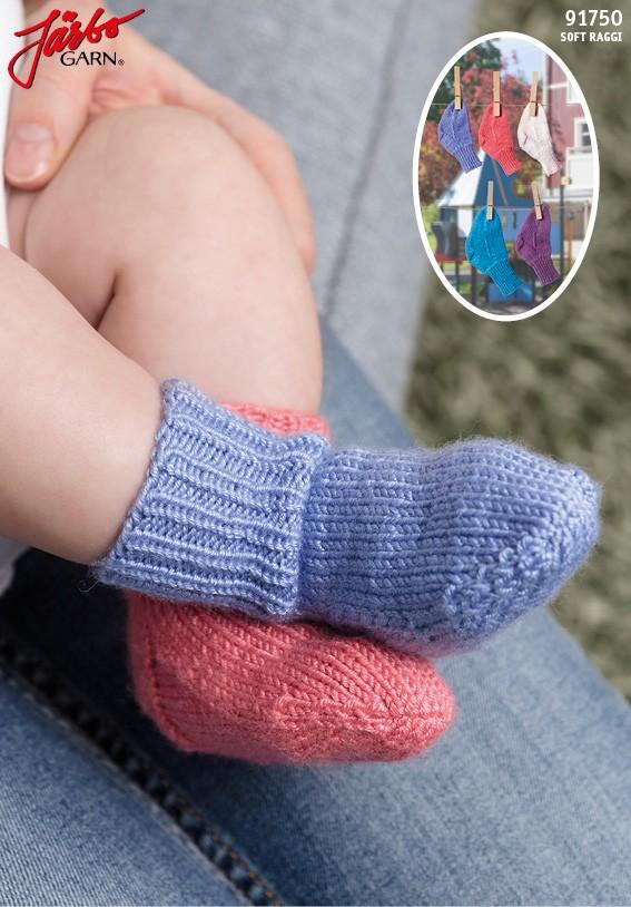 7f1580905ae6 91750 - Babysockor med stretch   Mönster   - Hobbii.se