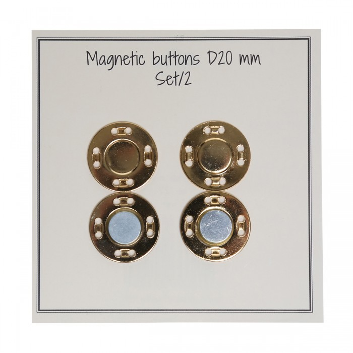 Boutons fermoirs magnétiques - 20 mm Go Handmade Go Handmade