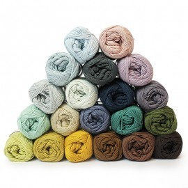 Cotton 8/4 - Temperatur teppe - 20 farger  Garn Mayflower