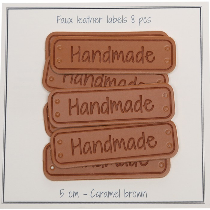 "Label PU leather – Handmade – 1.97"" (5 cm) Accessories Go Handmade"
