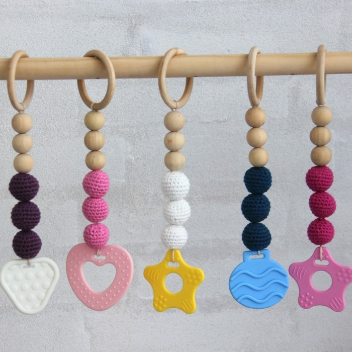 Teether toy - Round - 55 mm Accessories Go Handmade