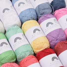 Rainbow Cotton 8/8 Mercerisert Garn Hobbii