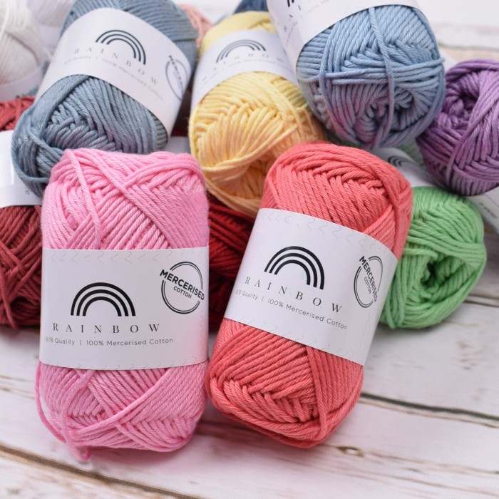 Rainbow Cotton 8/8 Merceriseret  Garn Hobbii