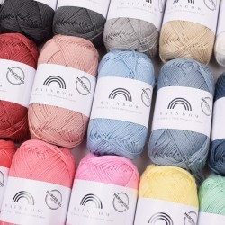 Rainbow Cotton 8/4 Merceriseret Garn Hobbii