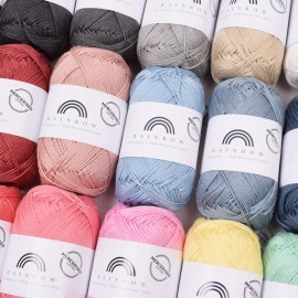Rainbow Cotton 8/4 Mercerisert Garn Hobbii