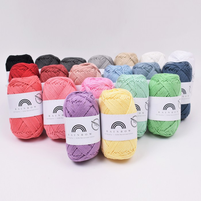 Rainbow Cotton 8/4 Merceriserat Garn Hobbii