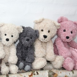 Teddy Family Mönster Go Handmade