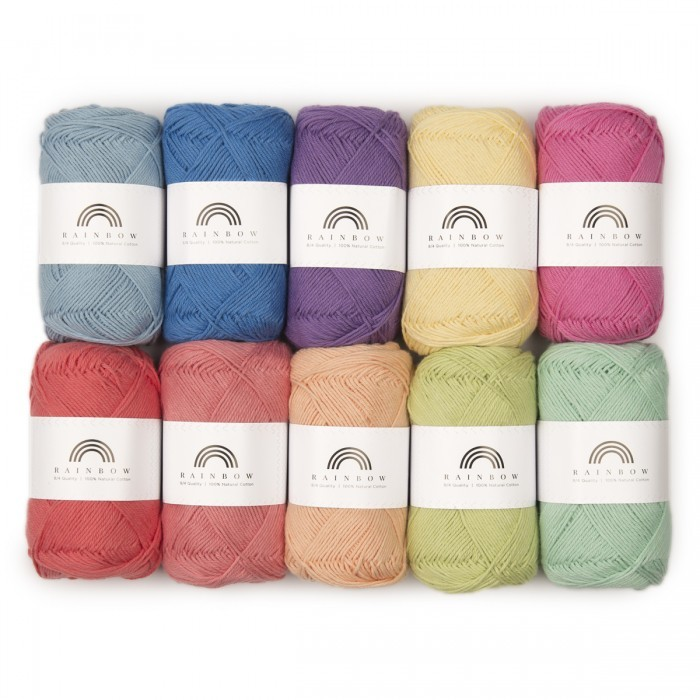 Rainbow Cotton 8/4 Farbtasche 10 Garn & Wolle Hobbii