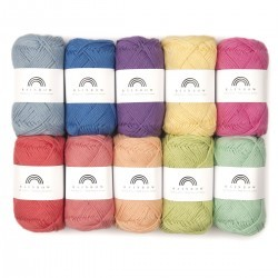 Rainbow Cotton 8/8 Farbtasche 10 Garn & Wolle Hobbii