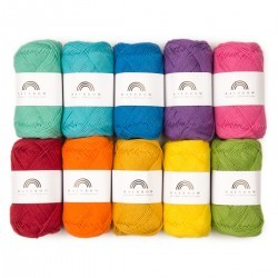 Rainbow Cotton 8/4 Farbtasche 09 Garn & Wolle Hobbii