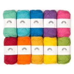Rainbow Cotton 8/8 Farbtasche 9 Garn & Wolle Hobbii